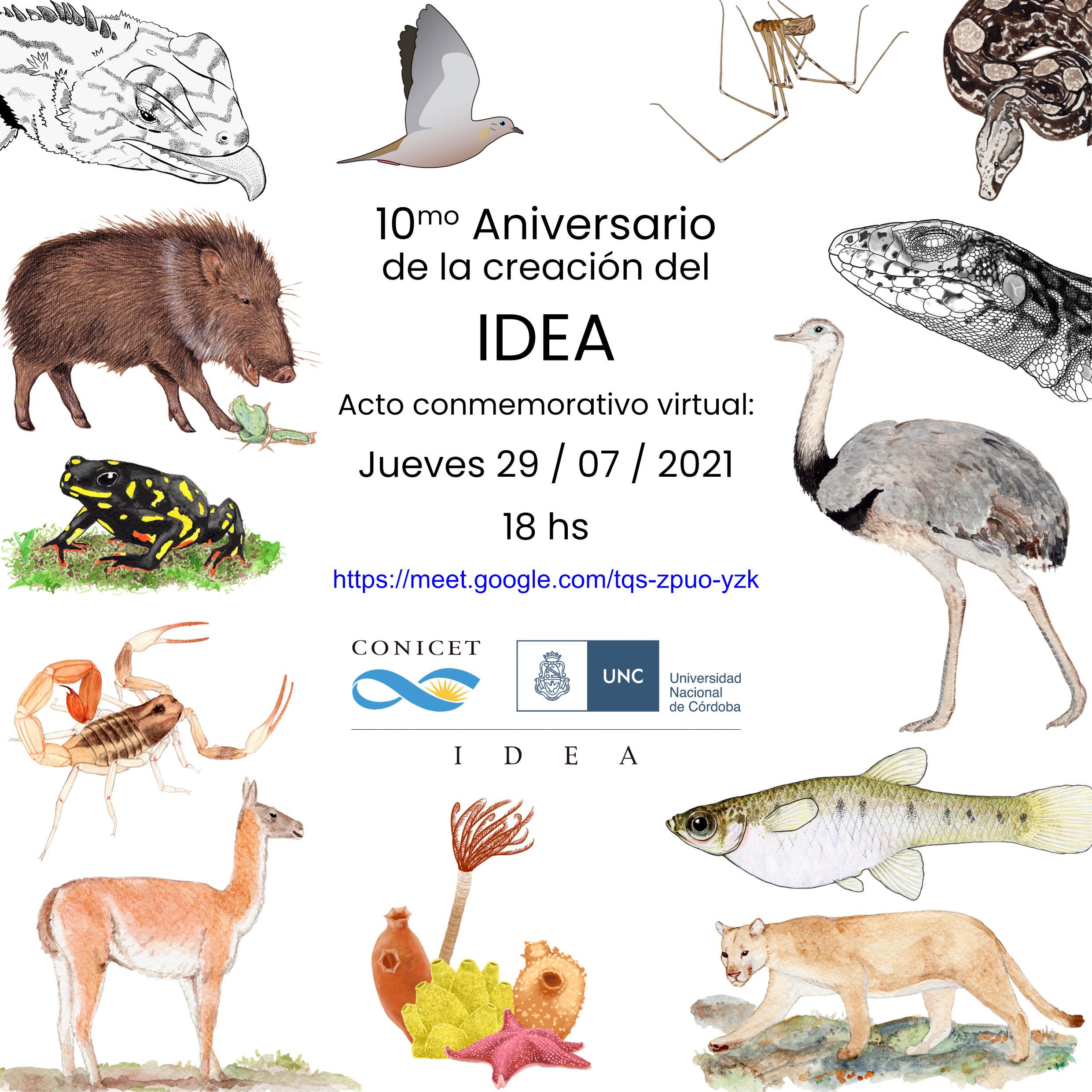 10° aniversario de la creación del Instituto de Diversidad y Ecología Animal (IDEA)