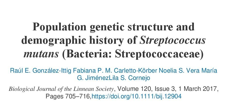 Estructura genética poblacional de Streptococcus mutans, responsable de las caries dentales