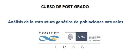 Curso de Posgrado: Análisis de la estructura genética de poblaciones naturales